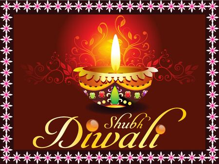 abstract dark diwali card design Vector
