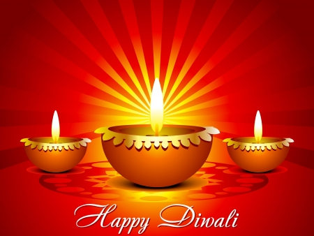 deepawali backdrop: abstract diwali background in indian style
