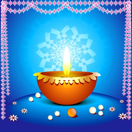 flower lamp: abstract diwali background