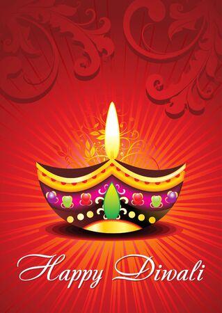 deepawali backdrop: abstract diwali card design Illustration