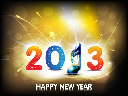 abstract new year background with musical word Vector