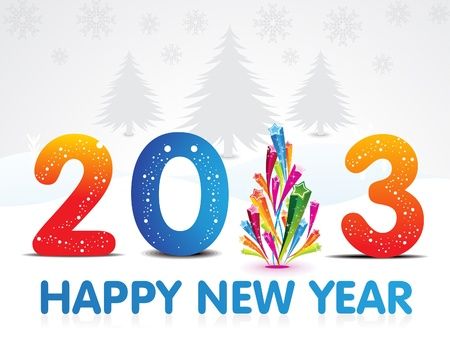 abstract new year wallpaper Stock Vector - 15715168