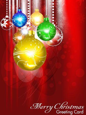 xmas linework: abstract christmas background with christmas ball Illustration