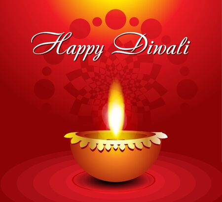 abstract diwali background with diwali  illustration Vector