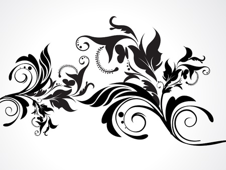 abstract floral backround  illustration Vector