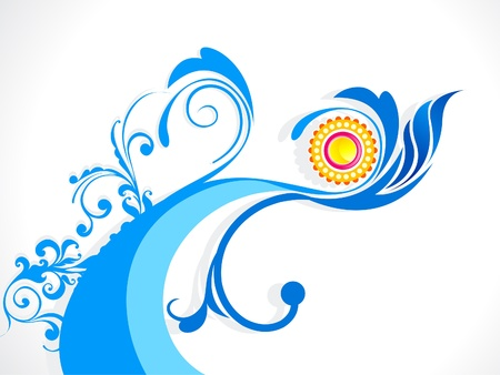 abstract wave floral background illustration Illustration