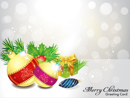 xmas linework: abstract christmas background with gifts Illustration