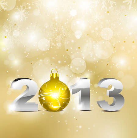 abstract golden new year background Vector