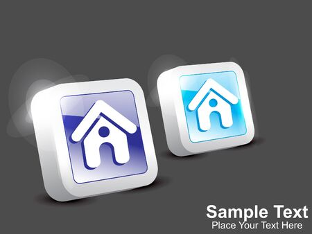 abstract home icon button vector illustration Stock Vector - 16258865