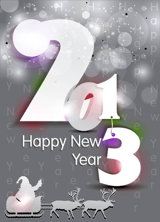 abstract new year background with sparkle vector illustration  Vector