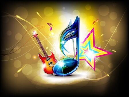 abstract glossy musical background  photo