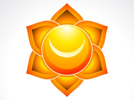 abstract sacral chakra  illustraion Vector