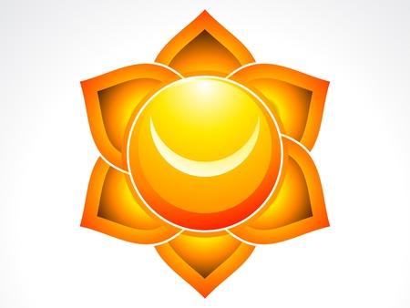 sacral: abstract sacrale chakra illustraion