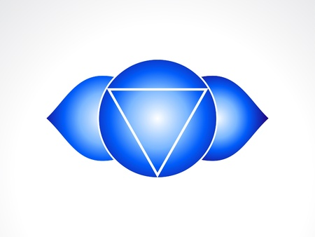 abstract third eye chakra  illustration Vector