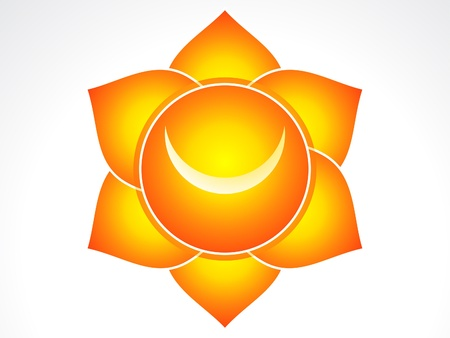 Kundalini sacral chakra  illustration Vector