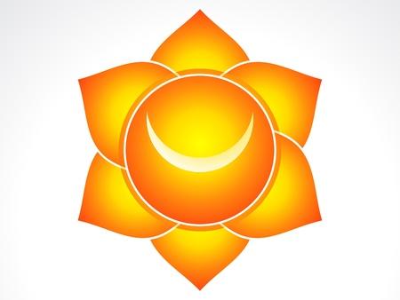 sacral: Kundalini sacrale chakra illustratie