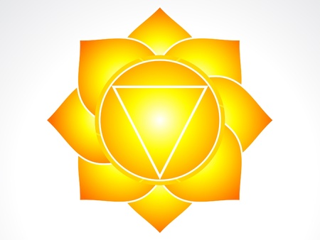 solar plexus chakra  illustration Vector