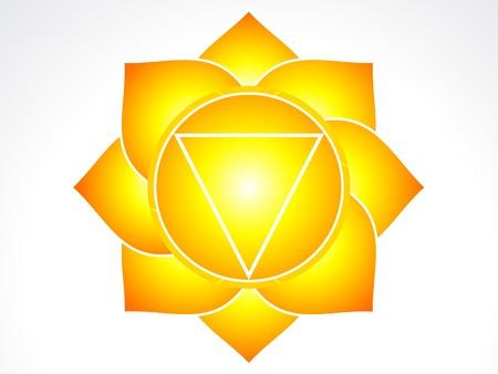 solar plexus:  solar plexus chakra  illustration Illustration