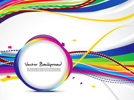 abstract colorful wave background with circle illustration Vector