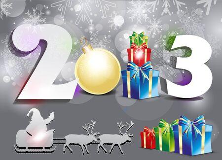 abstract new year background illustration  Illustration