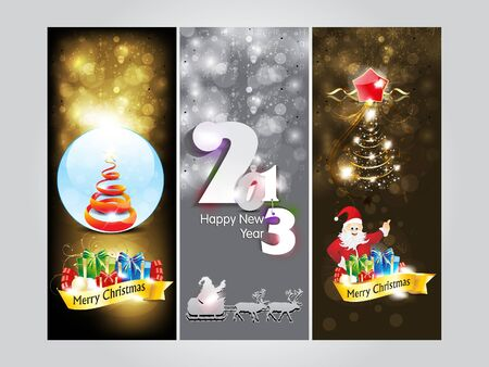 abstract christmas Banner   new year banner vector illustration  Vector