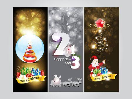 xmas linework: abstract christmas Banner   new year banner vector illustration  Illustration