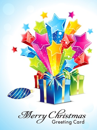 abstract explode background with gifts vector illustration Stock Vector - 16615442