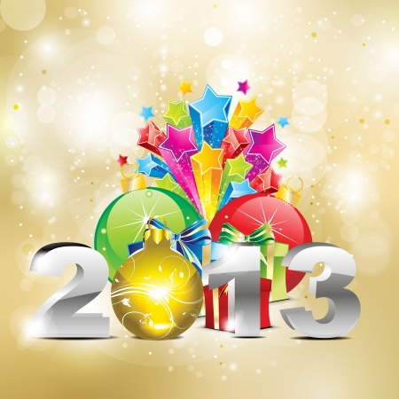 abstract new year background vector illustration