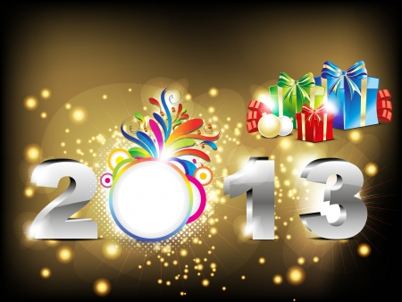 abstract new year background with gifts illustration Stock Vector - 16675315