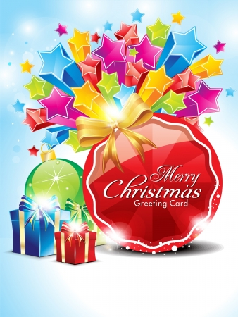 abstract glossy christmas background with stars vector illustrartion  Иллюстрация