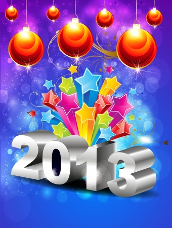abstract glossy new year  background