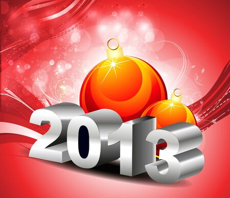 abstract new year backgroun with balls vector illustration  Vector