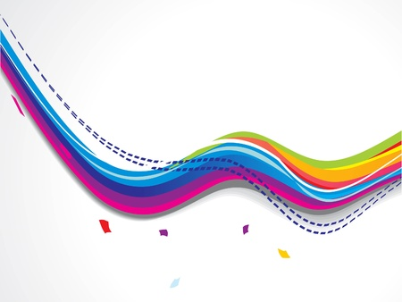 abstract colorfull smooth wave background vector illustration Stock Vector - 17094301