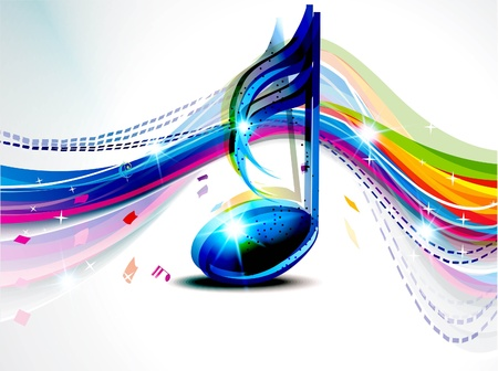 abstract musical wave background vector illustration Stock Vector - 17094305
