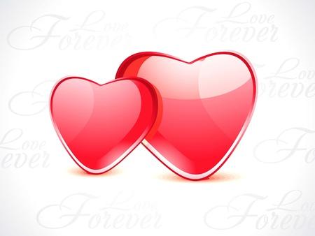 abstract glossy heart shape illustration