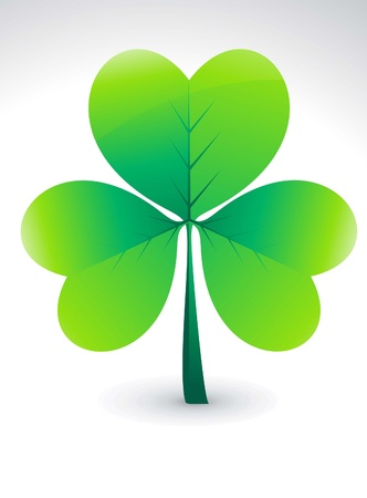 four leafed: abstract green clover illustration
