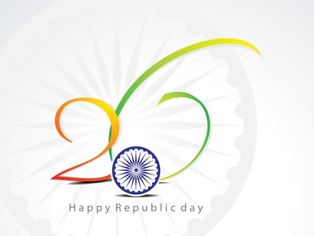 abstract republic day background with chakra vector illustration