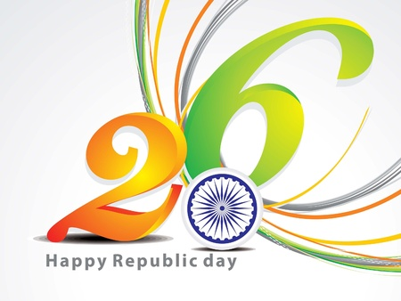 abstract republic day background vector illustration  Stock Vector - 17477842