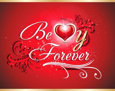 abstrat love card design vecotr illustration  Illustration