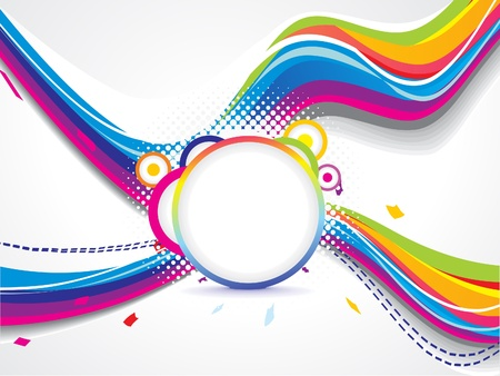 abstract colorful cross  wave background vector illustration Stock Vector - 17907968