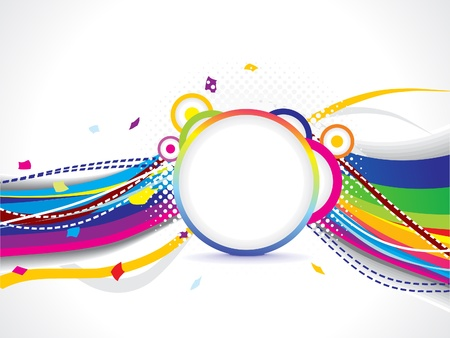 abstract colorful wave background vector illustration Stock Vector - 17907970
