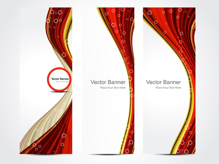 abstract web banner background vector illustration  Illustration