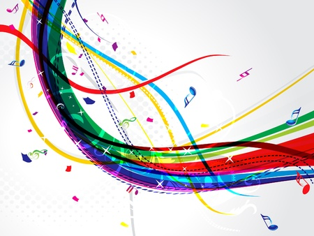 life event: abstract musical wave background  Illustration