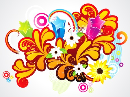 abstract colorful floral background vector illustration Stock Vector - 18530915