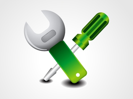 iron cross: abstract glossy tools icon vetor illustration  Illustration
