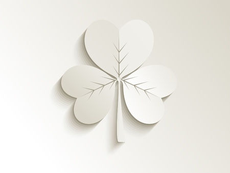 four leafed: abstract cute clover vector illustration