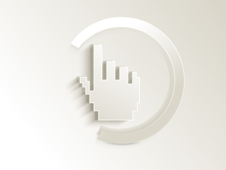 abstract hand cursor button vector illustration  Vector