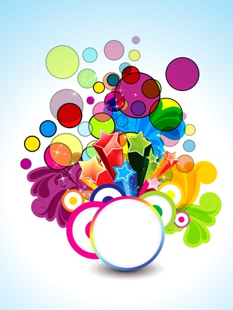 abstract colorful background with floral vector illustration