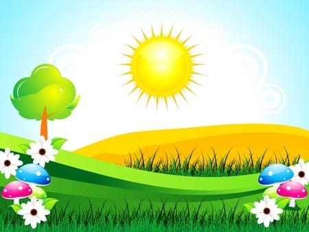 abstrakte grünen Sommer Hintergrund Illustration