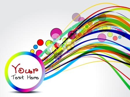 environnement entreprise: r�sum� vague de fond color� avec des bulles illustration Illustration